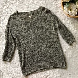 Wilfred Black White Knit Sweater
